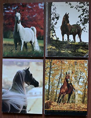 Lot of 4 ~ Vintage Arabian Horse World Magazines 1987~ national champ~ Purebred