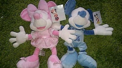 Disney micky minnie mouse soft toy baby blue pink