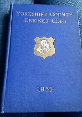 Yorkshire Cricket club ( fifty third annual report) 1951 HB Book