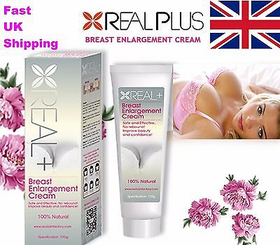 Breast Enlargement Real Plus+ Enhancement Cream, 100% Natural, Bigger, Firmer