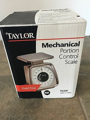 Taylor 32 Ounce~oz Stainless Steel  Portion Control Scale 2 LB. Pound TS32F NIB