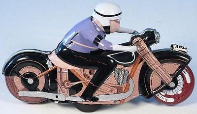 Racing Motor Cycle Tin Toy-SEE VIDEO - FREE Shipping!