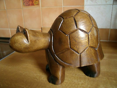 Acacia Hand Carved Wooden Turtle Ornament