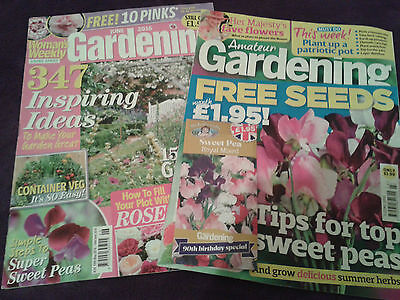 Bundle Gardening Magazines Woman's Weekly Amateur Gardening Free Sweet Pea Seeds
