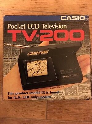 Vintage Casio TV-200 Pocket LCD Television TV Collectable Boxed