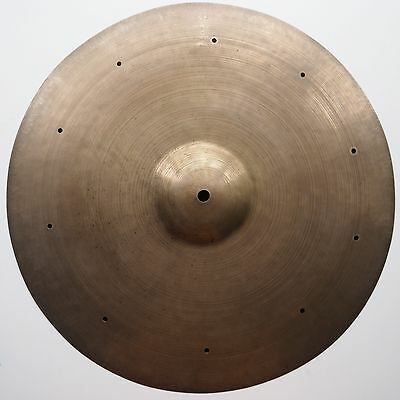 "Vintage K Zildjian 16"" Crash Istanbul With Rivets Very Rare 1930-1949"