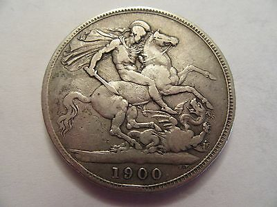 1900 Great Britain Silver Crown, nice details