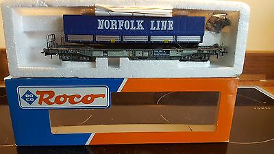 Roco  Lorry Transport Wagon Norfolk Line  Excel Boxed With Accessories