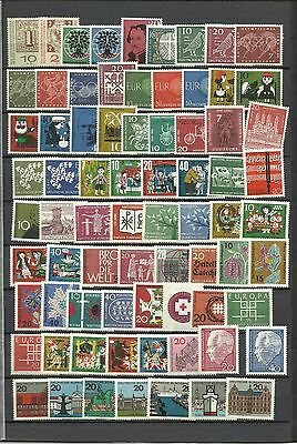 Germany, West Germany, Mint (MNH) collection, 1960s, 2 scans full