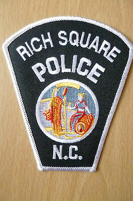 Patches: RICH SQUARE NORTH CAROLINA NC POLICE PATCH (NEW, apx. 4.8x3.8 inch)