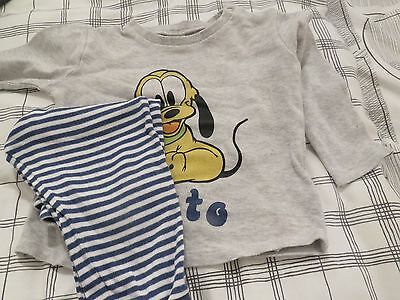 Baby Pjs Age 9-12 Months Disney At Asda