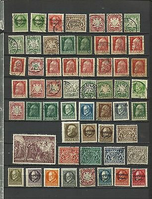 Germany, Bavaria, used and mounted mint collection, 2 scans, worth a look!