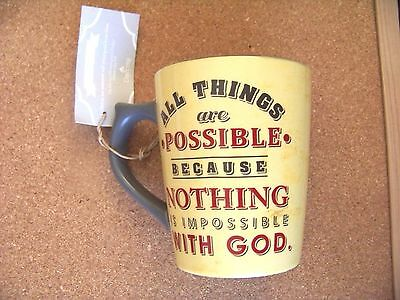 All Things Possible Because Nothing Impossible With God ceramic coffee mug cup