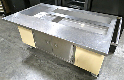 Colorpoint Portable Work Counter, Kitchen Prep Table, Ice Bin, Catering Buffet