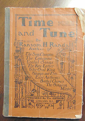 Early Music Teaching Book 1901 Time and Tune by Ransom H Randall Chicago ILL