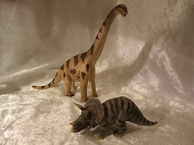 Schleich Germany 2002 World Of History Prehistoric Dinosaurs Lot Of 2 Nice