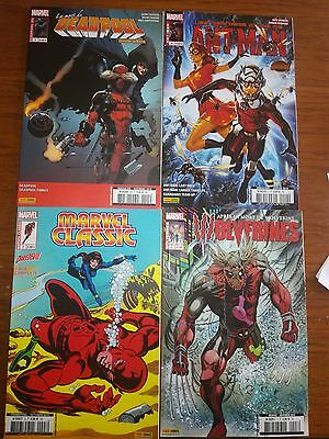 lot de 4 comic marvel ant-man deadpool wolverine classic