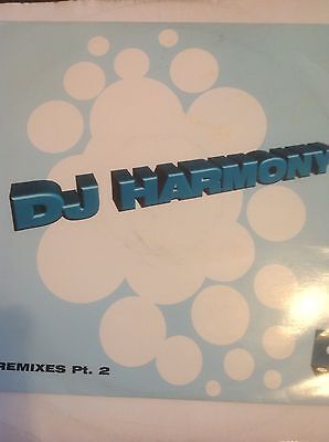 """DJ Harmony-Remixes Pt. 2 Let Me In/Serious 10"""" Vinyl Jungle Moving Shadow 1995"""