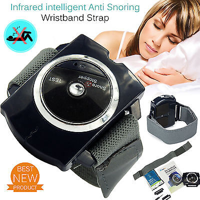 New Infrared Intelligent Anti Snore Wristband Snore Stopper Snoring Aid UK Stock