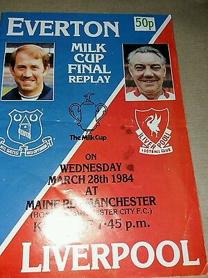 Everton v Liverpool league cup final replay 28/3/1984