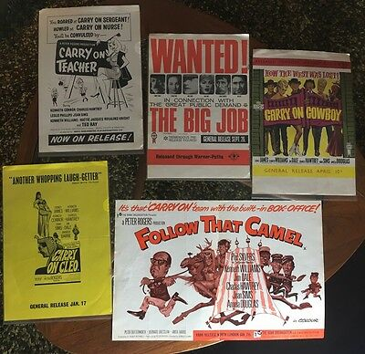CARRY ON FILMS Vintage Original Cinematic Trade Posters