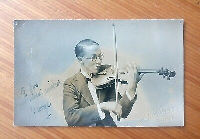 Vintage* Gentleman with Violin and Bow.   J. Willkinson. Wigton. ( Cumbria ? ).