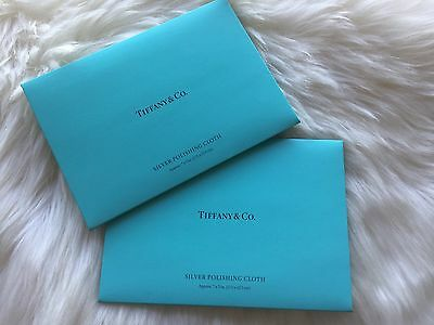 Authentic Tiffany & Co Silver Cleaning Cloth (set Of 2)