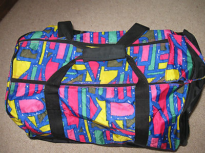 Neon Bright Multi-Coloured Large Holdall Sports Bag Lightweight Skiing / Travel
