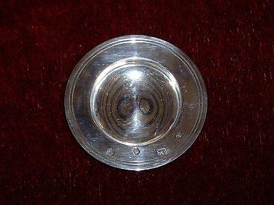 Solid Silver Pin Dish Heavy with Large Hallmarks 46.6 grams