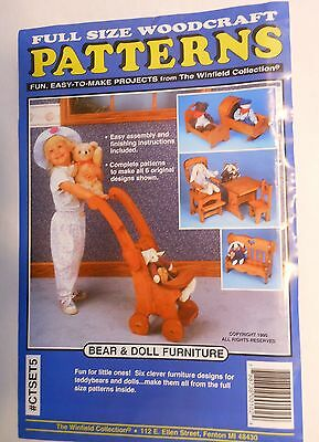 Chair  Doll Furniture -  Wood Working Pattern - Full Size Woodcraft