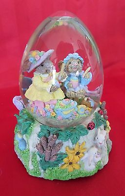 Gorgeous Bunny Rabbit Easter Snow globe by Mercuries, USA
