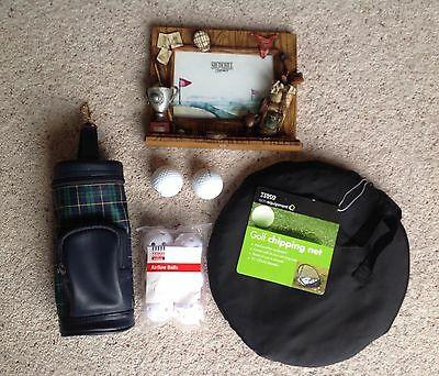 New - Golf Chipping Net & Balls - Golf Photo Frame - Drink Bottle Cool Bag -