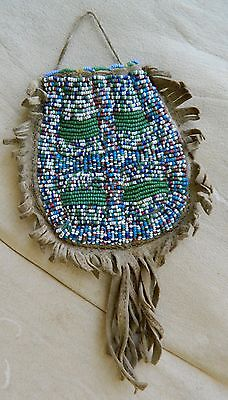 Nice Sioux Indian Native American Pouch. Shiloh, Ariz. Collection