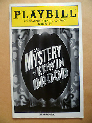 .2012 PlayBill Roundabout Theatre: THE MYSTERY of EDWIN DROOD by Scott Ellis