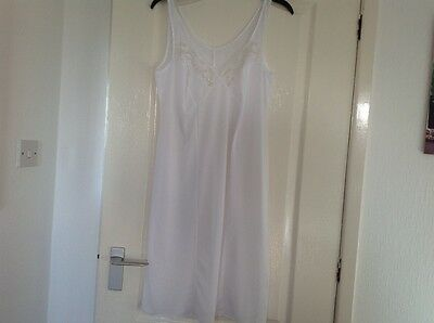 Full Length White And Lace Underskirt Slip From M&s Size 16