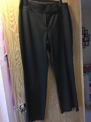 Ladies Next Tailored Charcoal Grey Trousers Size 16