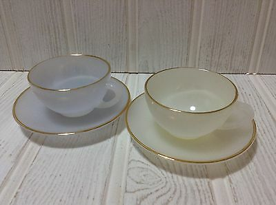Arcopal Harlequin Cups & Saucers