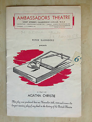 Ambassadors Theatre- THE MOUSETRAP by AGATHA CHRISTIE(Longest Running Play in GB