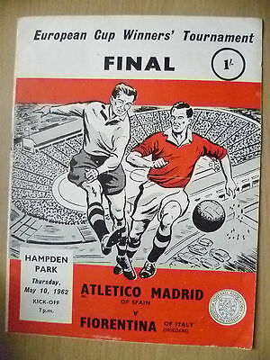 EUROPEAN CUP WINNERS' CUP FINAL 1962- ATLETICO MADRID v FIORENTINA