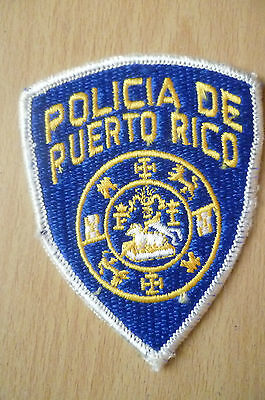 Patches: POLICIA DE PUERTO RICO PATCH (NEW*apx. 10x7.5 cm)