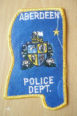 Patches: ABERDEEN POLICE DEPT PATCH (NEW* apx. 11x7 cm)