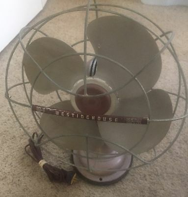 """Westinghouse 12"""" 3 Speed Oscillating Fan Excellent Running/ Quiet"""