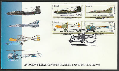Chile 1993 FDC Aircratft old airplanes