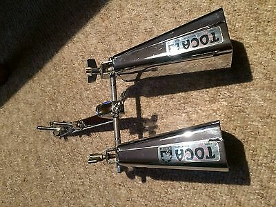 """Toca cowbell Set toca drum Percussion,conga,kit,clamp 7"""" 6"""""""