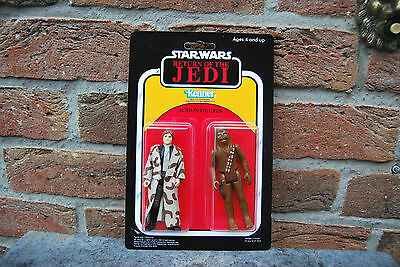 Star Wars Vintage Twin Pack Han Solo Chewbacca Rotj Kenner