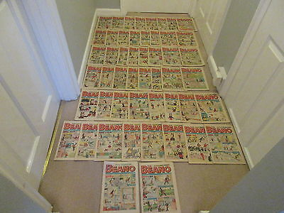 BEANO COMICS X 50 FROM 1972, COMPLETE YEAR,-2 All in good condition/Dandy