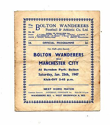 1946-1947 Bolton Wanderers v Manchester City  FA Cup