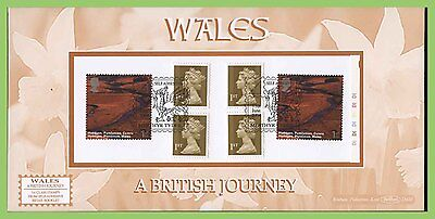 G.B. 2004 Wales Journey booklet pane on Benham First Day Cover