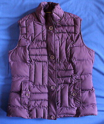 PER UNA Women's Size S UK 8-10 Purple Quilted Padded Gilet Bodywarmer - Exc Cond