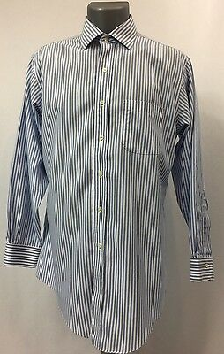 Mens BROOKS BROTHERS Non-Iron Slim Fit Size 15.5-32 Button Front Dress Shirt